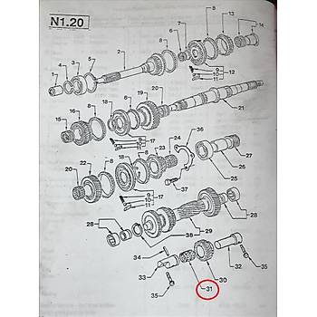 FORD TRANSÝT T12-T15 GERÝ VÝTES DÝÞLÝ RULMANI 1993-2000 - TORR MARKA
