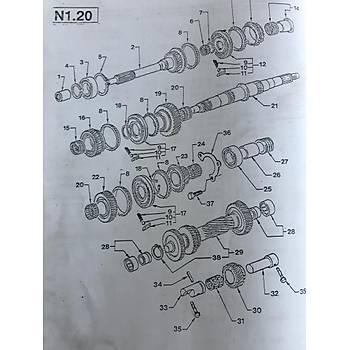 FORD TRANSÝT 1-2 KOMPLE SENKROMEÇ MT-75 - 1993-2001