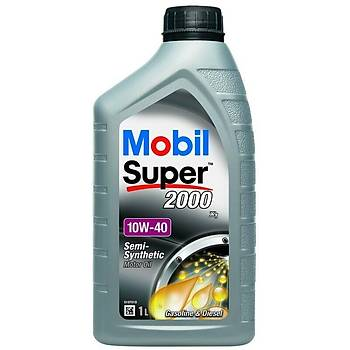 Mobil Super 2000 X1 10W-40 Semi Synthetic 1 LÝTRE  Benzin ve Dizel Motor Yaðý