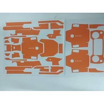 Dji Mavic Pro için Turuncu Karbon Grafik Su Geçirmez PVC Cilt Çýkartma Full Set