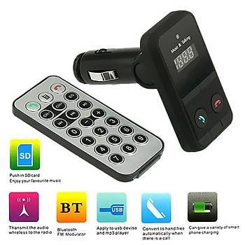 Araç Çakmaklýk Mp3 Çalar USB Bluetooth Araç Kiti