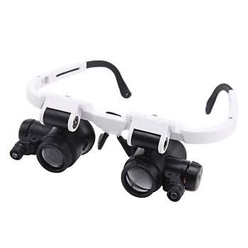8X 15X 23X Kafa Iþýklý Büyüteç Tamirat Onarým Gözlük Tipi Saatçi Büyüteç