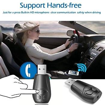 Araç Kiti MP3 Çalar TF Kart Müzik Alýcý Verici Kablosuz Mini USB Bluetooth Adaptörü