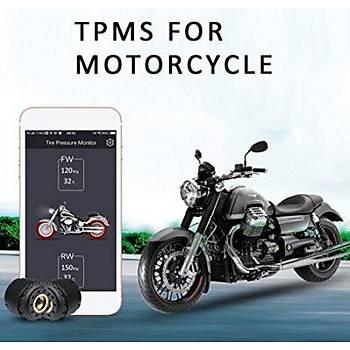 Motosiklet Bluetooth Lastik Basýncý Telefondan Ýzleme Sistemi TPMS