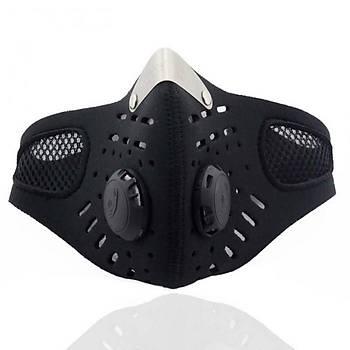 Motor Yüz Maskesi Aktif Karbon Filtre Termal Rüzgar Geçirmez