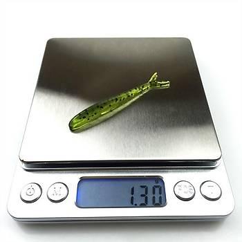 8 Adet Soft Silikon Yapay Simli Balýk Yem 6,5cm 1,3gr