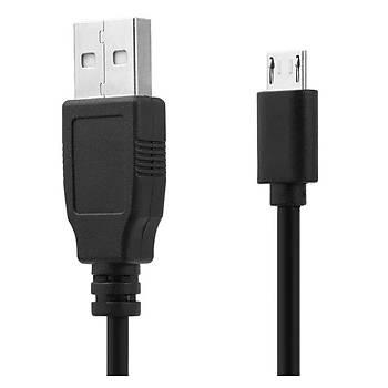 Raspberry Pi Ýçin 1.5m 5V 2A Mikro USB Anahtarlý Þarj Kablosu - Siyah Renk