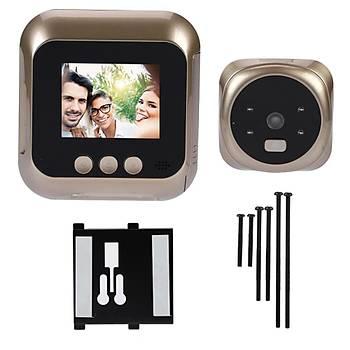 Akýllý Kapý Zili Güvenlik IR Kamerasý 2.4 inç HD Ekran 135° Geniþ Açý