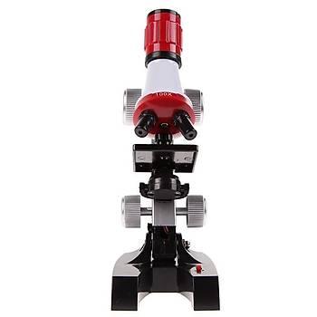 Microskop Kit Lab LED 100X-1200X Ev Okul ÇocukEðitim