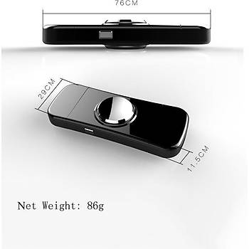 Stres Çarký Elektrikli Alevsiz Çakmak USB Elektronik Þarjlý Cayro Spinner