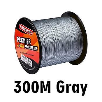 300M Multifilament Premier PE 4 lü Örgülü Olta Ýpi 0,23mm 25 Libre Gri Renk