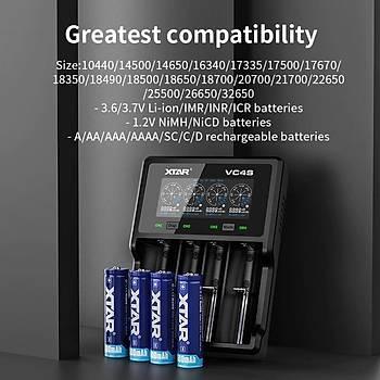 XTAR VC4S USB LCD Ekran 18W QC3.0 Hýzlý Pil Þarj Cihazý Li-ion