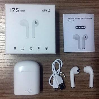 Ýphone için  M&J i7S TWS Þarj Kutulu Bluetooth Stereo Kulaklýk
