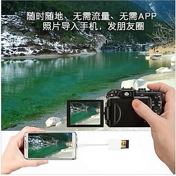 Mikro USB SD Kart Okuyucu OTG Android Telefon PC Dijital Kamera Veri Kablosu