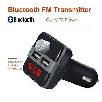 Bluetooth LCD Araç Kiti FM Verici Çift Çift USB Araç Þarjý DC 5V 3.1A