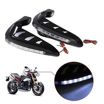Motosiklet Motocross El Muhafaza LED Sinyal Iþýk Kombinasyonu Gidon Koruyucusu