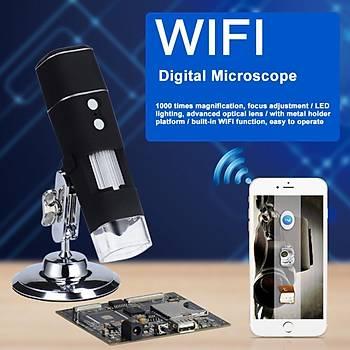 1000 X HD USB WiFi Kablosuz Dijital Mikroskop Büyüteç IOS ve Android