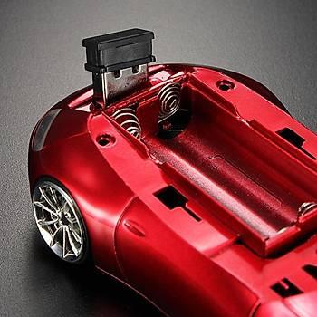 Porsche Araba Þeklinde Optik Mause Kablosuz Led Farlar