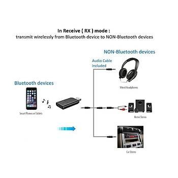 Usb Bt V4.2 Stereo Müzik Ses Verici Alýcý Adaptörü Aux 3.5mm AVRCP