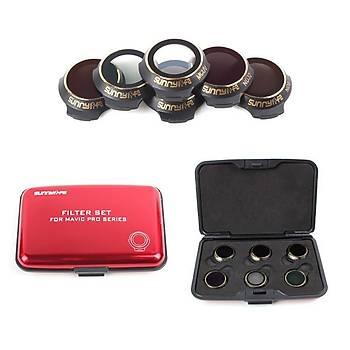 DJI Mavic Platinum Gimbal Kamera Lens Filtre 6 lý Set Sunnylife