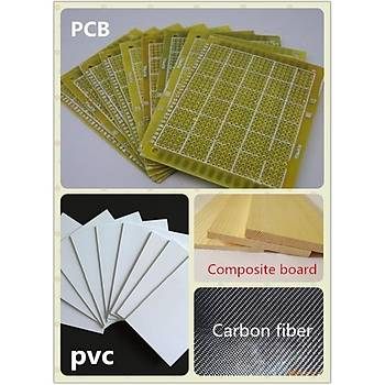 Tungsten Karbür PCB Kesme CNC Freze Kaplama Uç 1.0-3.0mm 10lu Set