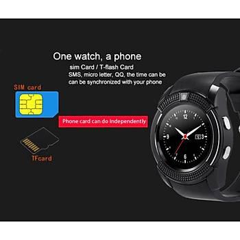 Akýllý Saat Telefon Dokunmatik Ekran Kameralý Sim/TF Kart Bluetooth