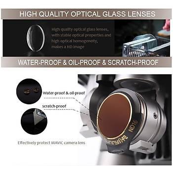DJI Mavic Pro Alpine White Kamera Ýçin Kýzaklý Upgrade Versiyon Optik Lens Filtre ND8