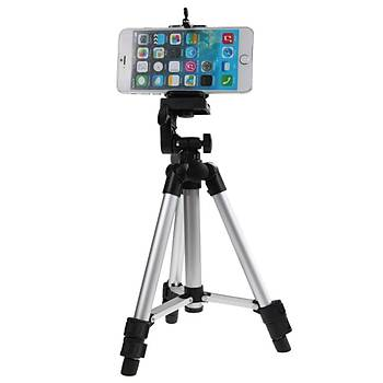 Alüminyum Teleskobik Telefon ve Kamera Tutucu Tripod Stand