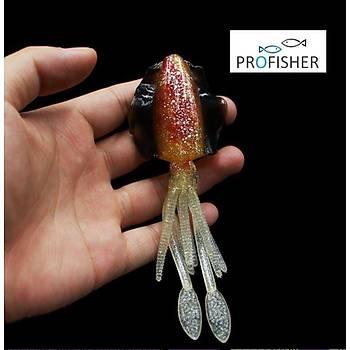 PROFISHER TPR Fosforlu Silikon Kalamar Sahte Yem 15 cm 19 gr 8160