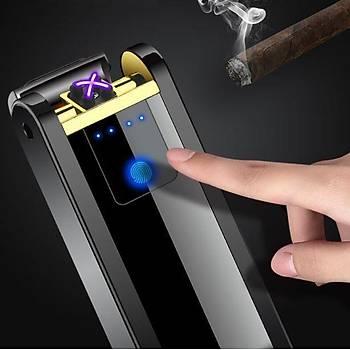 Alevsiz Çift Ark Plazma Rüzgar Çakmak Dokunmatik Algýlama Gazsýz USB Þarj
