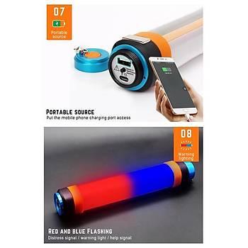 USB Þarj Edilebilir IP68 Su Geçirmez Led Kamp Iþýldak Taþýnabilir El Feneri T25