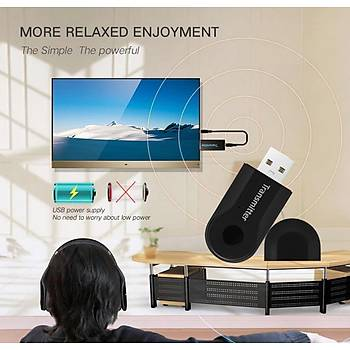 Mini Kablosuz Bluetooth 4.0 Verici Stereo Ses Müzik Adaptörü TV Telefon PC