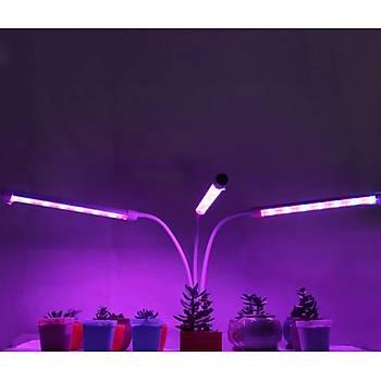Tam Spektrum Fito LED Iþýk Bitki Büyütme 5V USB 60W Lamba Zaman ve Renk Ayarlý