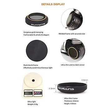 Dji Mavic Pro Kamera Lens Ýçin 6 lý Filtre Seti MCUV/CPL/ND4/ND8/ND16 /ND32