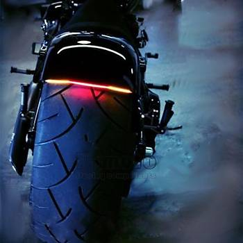 Motosiklet Fren ve Dönüþ Sinyali Plaka 48 LED Iþýk Esnek Kuyruk Þerit 50cm Kablo