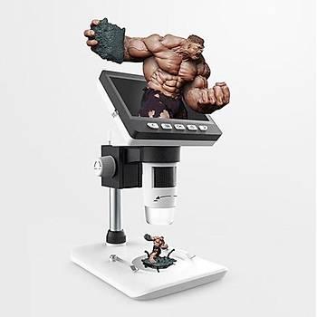 1000X 16:9 LCD Dijital Mikroskop Büyüteç HD 1080P Bardak Seti Desteði TF Destek