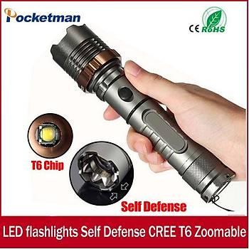 LED Taktik El Feneri 3800lm CREE XM-L T6 5 modlu Yaðmur Geçirmez