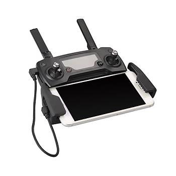 DJI Mavic 2 Pro için Mikro USB Kumanda Veri Aktarým Kablosu 29cm Örgülü Siyah