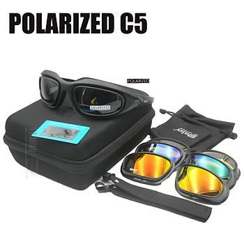 Gözlük DAISY USA MILITARY C5 4 Lensli Polarize Taktikal