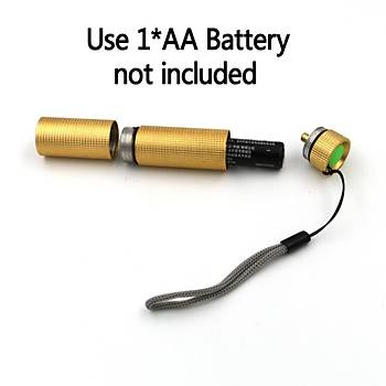 365Nm UV Led El Feneri Mini Alüminyum Alaþým Taþýnabilir Fener Mor LED