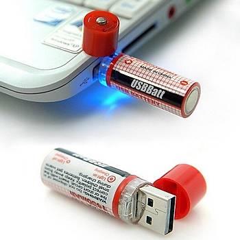 1.2V AA 1450mAh Ni-Mh Pil USB Ç?k???ndan Direkt ?arjl? Led I??kl?
