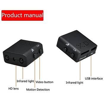 HD 1080 P XD IR-CUT Akýllý Mini Kamera Kýzýlötesi Döngü Kayýt Desteði