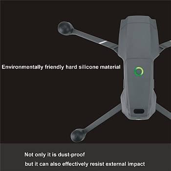 DJI Mavic 2 Zoom 4 Adet Silikon Motor Toz Geçirmez Koruyucu Kapak
