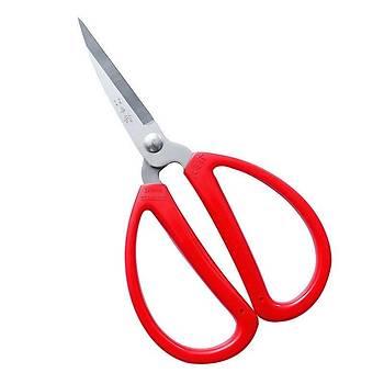 Dayanýklý Keskin 420 Paslanmaz Çelik Makas 17.5cm Kýrmýzý ABS Elastik Saplý
