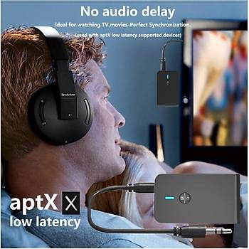 AptX Düþük Gecikme BT 5.0 Verici Alýcý Aux Ses Adaptörü A2DP, AVRCP, HFP, SPP HID