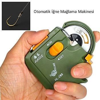 Otomatik Portatif Pilli Balýk Ýðne Baðlama Makinesi Hýzlý Kanca Düðüm
