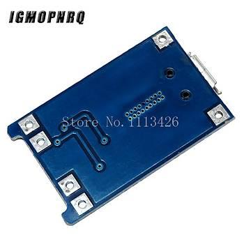 Mikro Usb 03962A 5V 1A 18650 TP4056 Li-ion Lityum Pil Þarj Cihazý Modülü
