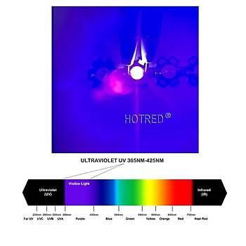 UV Mor LED Ultraviyole Lamba Cip 365nm 30W Yüksek Güç Iþýðý