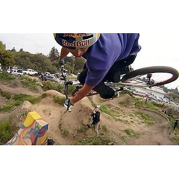 PULUZ Aksiyon Kamera Motosiklet Bisiklet Kask Uzatma Kolu + Toka + 3 M Sticker