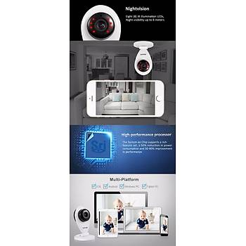 Sricam 720P H.264 Wifi IP Camera Wireless ONVIF Ge Görüþ Pan Tilt
